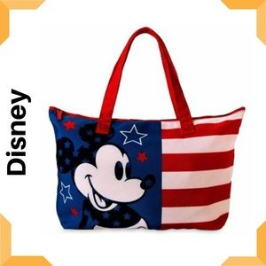 Mickey Mouse Americana Canvas Tote Disney Store